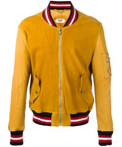 Pihakapi | Striped Trim Jacket Medium Lamb Skin/Cotton/Polyamide/Cotton