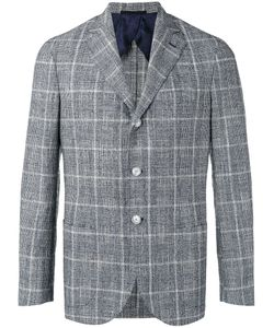 Barba | Plaid Blazer 48 Cotton/Linen/Flax/Silk/Polyester