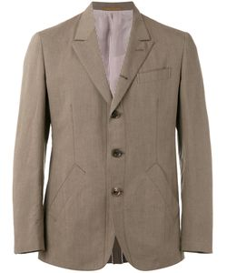 Caruso | Triple Button Blazer 50 Cotton/Linen/Flax/Cupro/Viscose