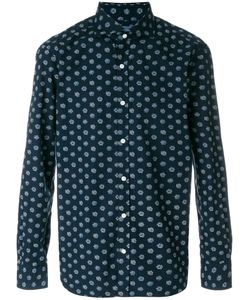 Barba   Embroidered Fitted Shirt Men