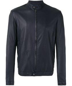 SALVATORE SANTORO   Ploung Biker Jacket 54 Cotton/Leather