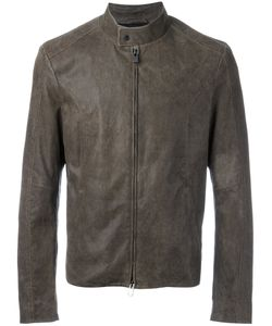 Drome | Band Collar Jacket 50 Lamb Nubuck Leather