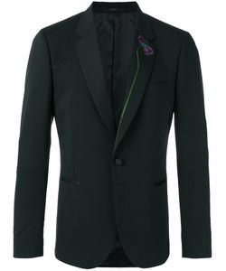 Paul Smith | Embroide Blazer 38 Spandex/Elastane/Wool/Viscose