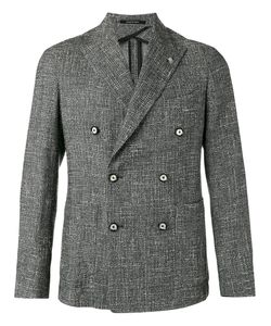 Tagliatore | Crosshatch Double Breasted Jacket Size 50