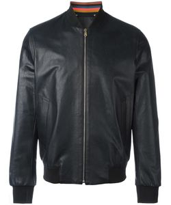 Paul Smith | Bomber Jacket Large Viscose/Sheep Skin/Shearling