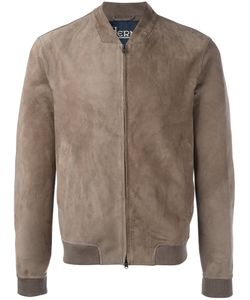Herno | Zipped Bomber Jacket 50 Cotton/Goat Skin/Modal/Elastodiene