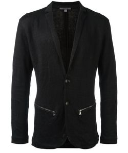 John Varvatos | Zipped Pockets Blazer Large Cotton/Linen/Flax/Other Fibres