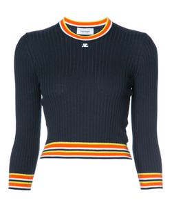 Courreges | Courrèges Striped Hem Longsleeve Sweater