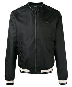 Dolce & Gabbana | Zipped Bomber Jacket 52 Polyester/Zamac/Calf