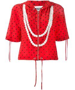 Moschino | Polka Dot Trompe-Loeil Pearl Hoodie 40 Silk