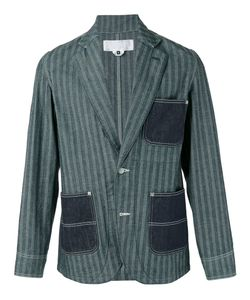 GANRYU COMME DES GARCONS | Striped Denim Pocket Blazer Size Small