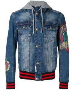 Philipp Plein | Fallow Denim Jacket Large Cotton/Polyester/Crystal