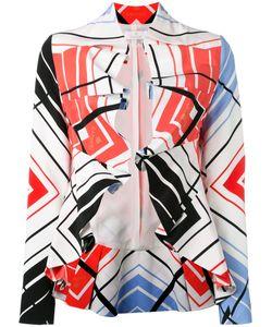 CAPUCCI | Ruffled Printed Cropped Jacket 44 Silk