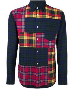 Comme Des Garçons Shirt Boy   Comme Des Garçons Shirt Patchwork Plaid Shirt Medium Cotton