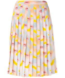 Prada | Lip Print Pleated Skirt Size 40