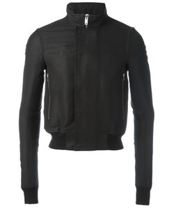 Rick Owens | Funnel Neck Bomber Jacket 46 Viscose/Cotton/Polyester/Cotton