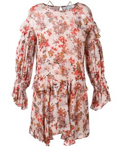 Iro | Print Ruffled Dress 40 Viscose