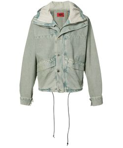 424 Fairfax | Cropped Denim Parka Medium Cotton