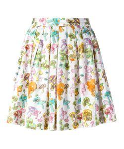 Olympia Le-Tan | Pleated Mushroom Print Skirt 38 Cotton