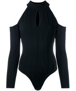 Jonathan Simkhai   Cold Shoulder Keyhole Jumpsuit Small Rayon/Nylon