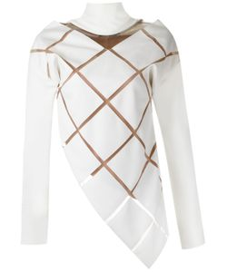 GLORIA COELHO | Sheer Panels Top