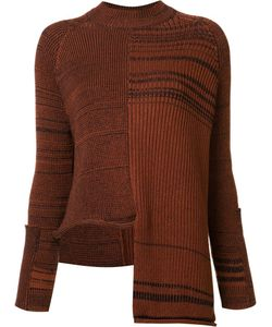 Stella Mccartney | Asymmetrical Stripe Jumper 40 Silk/Cotton/Polyamide/Spandex/Elastane