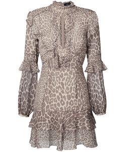 J. Mendel | Платье Мини С Леопардовым Принтом И Оборками