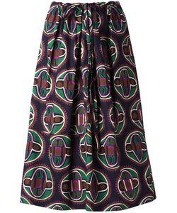 Aspesi | Geometric Print Drawstring Skirt Small