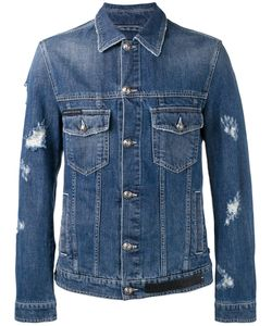 Philipp Plein | Distressed Denim Jacket Size Medium
