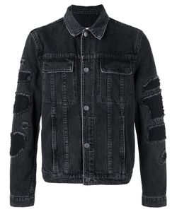 Helmut Lang | Shded Trim Denim Jacket Xl Cotton/Polyester