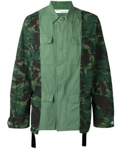 OFF-WHITE | Camouflage Print Cargo Jacket Large Cotton
