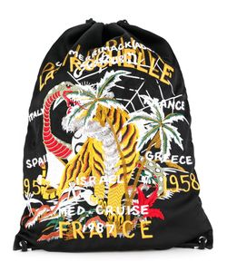 Doublet | Tiger Embroide Drawstring Backpack Rayon
