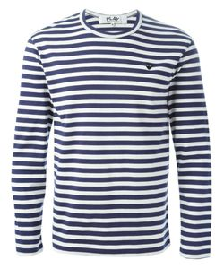 Comme des Gar ons Play | Comme Des Garçons Play Longsleeved Striped T-Shirt Size Large