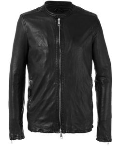 Giorgio Brato | Stitched Detail Jacket Size 50 Leather/Cotton/Nylon
