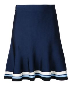 Victoria, Victoria Beckham | Victoria Victoria Beckham Striped Hem Flared Skirt Size