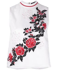 House Of Holland   Embroidery Tank 12 Silk/Polyester/Viscose