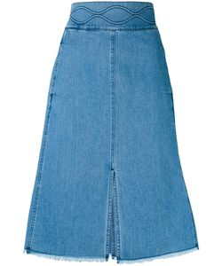 See By Chloe | See By Chloé Denim A-Line Midi Skirt