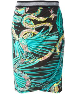 Just Cavalli | Snake Patterned Skirt 44 Viscose