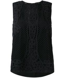 Twin-set | Applique Detail Tank 42 Cotton/Viscose/Polyester