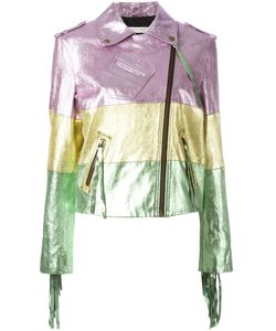 Philosophy di Lorenzo Serafini | Colour-Block Biker Jacket Size 42