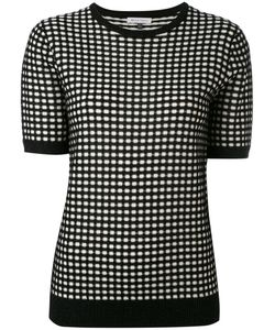 Bella Freud   Sparkle Gingham Knit Top Rayon/Wool/