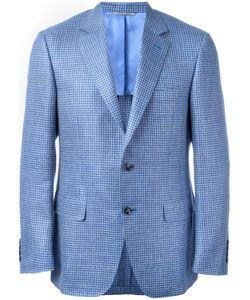 Canali | Checked Blazer 54 Silk/Linen/Flax/Wool/Cupro