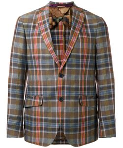 Etro | Plaid Blazer 50 Cotton/Linen/Flax/Silk/Cupro