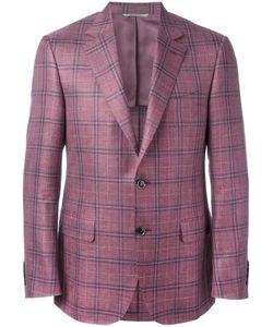 Canali | Plaid Blazer 56 Silk/Linen/Flax/Wool/Cupro