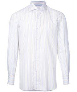 Isaia   Pastel Striped Shirt Size 38