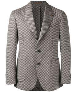 GABRIELE PASINI | Checked Pattern Blazer 48 Viscose/Linen/Flax