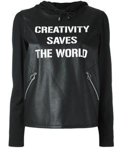 Twin-set | Толстовка Из Искусственной Кожи Creativity Saves The World