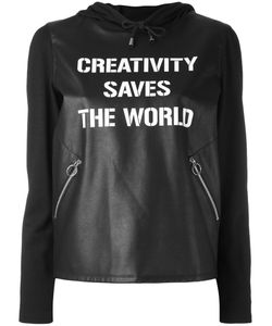 Twin-set | Faux Leather Creativity Saves The World Hoodie