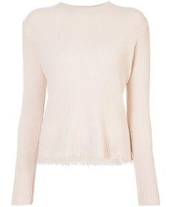 The Elder Statesman   Cut Edge Ribbed Sweater Women