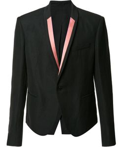 Haider Ackermann | Contrast Lapel Blazer 50 Rayon/Cotton/Linen/Flax/Polyester